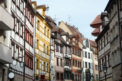 Weissgerbergasse, Nürnberg, Deutschland Stockfotografie