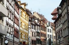 Weissgerbergasse, Nuremberg, Duitsland Stock Fotografie