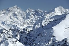 Weisshhorn and Zinalrothorn Stock Photo