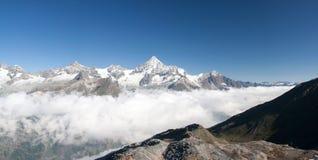 Weisshorn en las montan@as, Suiza Foto de archivo libre de regalías
