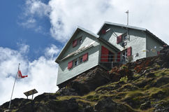 Weisshorn Hut Royalty Free Stock Image