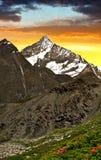 Weisshorn nel tramonto Fotografie Stock