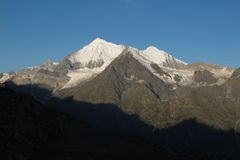 Weisshorn at sunrise Royalty Free Stock Photography