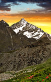 Weisshorn in the sunset Stock Photos