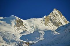 The Weisshorn at sunset Stock Photo