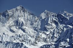 The Weisshorn in winter Royalty Free Stock Image