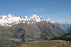 Weisshorn and Zinalrothorn Royalty Free Stock Images