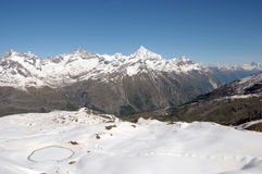 Weisshorn and Zinalrothorn Stock Photos