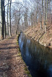 Weisshuhnuv kanal water channel near Hradec nad Moravici Royalty Free Stock Image