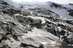 Weissmies con el glaciar Imagen de archivo