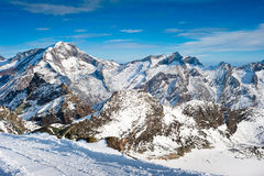 Weissmies mountain peak in winter Stock Images