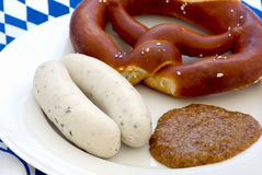 Weisswurst Breakfast Stock Photos