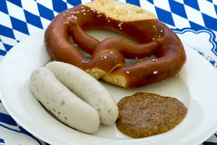Weisswurst Breakfast Stock Photography