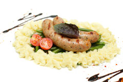 Weisswurst sausage, German food Royalty Free Stock Photo