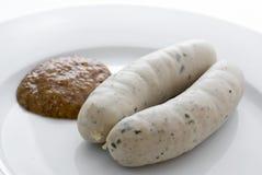 Weisswurst tradicional Fotografia de Stock