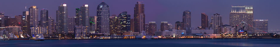 Weit panoramisch von szenischem San Diego Lizenzfreie Stockfotografie
