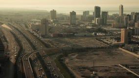 Weit und Vogelperspektive, Skycrapers in Manama - Bahrain 03 stock footage