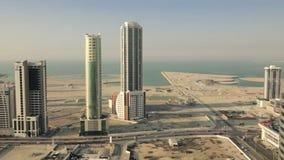 Weit und Vogelperspektive, Skycrapers in Manama - Bahrain 04 stock video