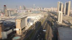 Weit und Vogelperspektive, Skycrapers in Manama - Bahrain 05 stock video