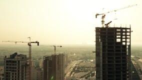 Weit und Vogelperspektive, Skycrapers in Manama - Bahrain 03 stock video