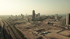 Weit und Vogelperspektive, Skycrapers in Manama - Bahrain, Mittlere Osten stock video footage