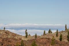 Weite Ansicht vom Berg über dem Meer stockfoto