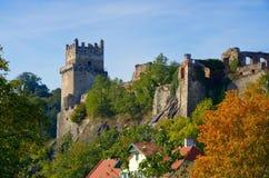 Weitenegg dichtbij Donau-kasteelruïne Stock Afbeeldingen