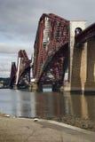 Weiter Schienen-Brücke Stockfotos