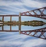 Weiter Schienen-Brücke Schottland Lizenzfreie Stockbilder