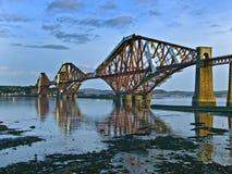 Weiter Schienenbrücke Lizenzfreie Stockbilder