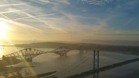 Weiter Straßen-Brücke Stockfoto