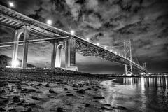 Weiter Straßen-Brücke Stockbilder