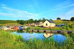 Weiter und Clyde-Kanal, Schottland Stockfotos