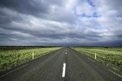 Weiter Weg und lange Abstände Stockbild