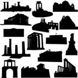 Weithin bekannte Griechenland-Architektur vektor abbildung
