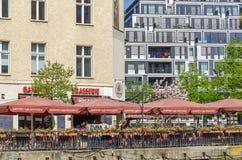 Weithin bekannte Standort Ganymed-Bierstube in der Mitte der Stadt Lizenzfreies Stockfoto