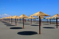 Weiting guest. Montenegro Ulcinj Velika plaza beach colors summer stock image