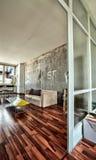 Berlin-Wohnungs-Wohnzimmer Stockfotografie