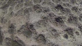 Weitwinkelansicht eines bestimmten Felsens in Ventotene stock footage