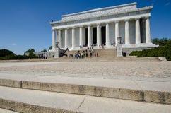 Weitwinkelansicht Lincoln Memorials im Washington DC lizenzfreie stockfotografie