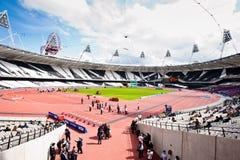 Weitwinkelansicht vom des Londons olympischen Stadion Lizenzfreies Stockbild