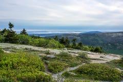 Weitwinkellandschaft im Nationalpark des Acadia Lizenzfreies Stockfoto