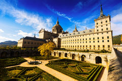Weitwinkelschuß von EL Escorial, Spanien Stockfotografie