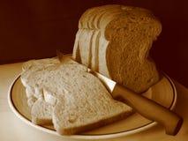 Weizen-Brot im Sepia stockfoto