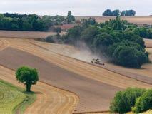 Weizen, der Frankreich erntet Stockfoto