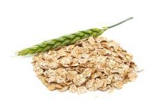 Weizen-Flocken und Ohr lizenzfreie stockbilder