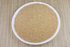 Weizen gebrochen auf Platte Lizenzfreie Stockfotografie