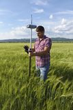 Weizen-Prüfer-Ingenieur Geodesy Survey Stockfotografie