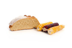 Weizen und Mais lizenzfreie stockfotos