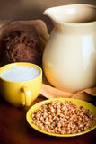 Weizen und Milch Lizenzfreie Stockfotografie